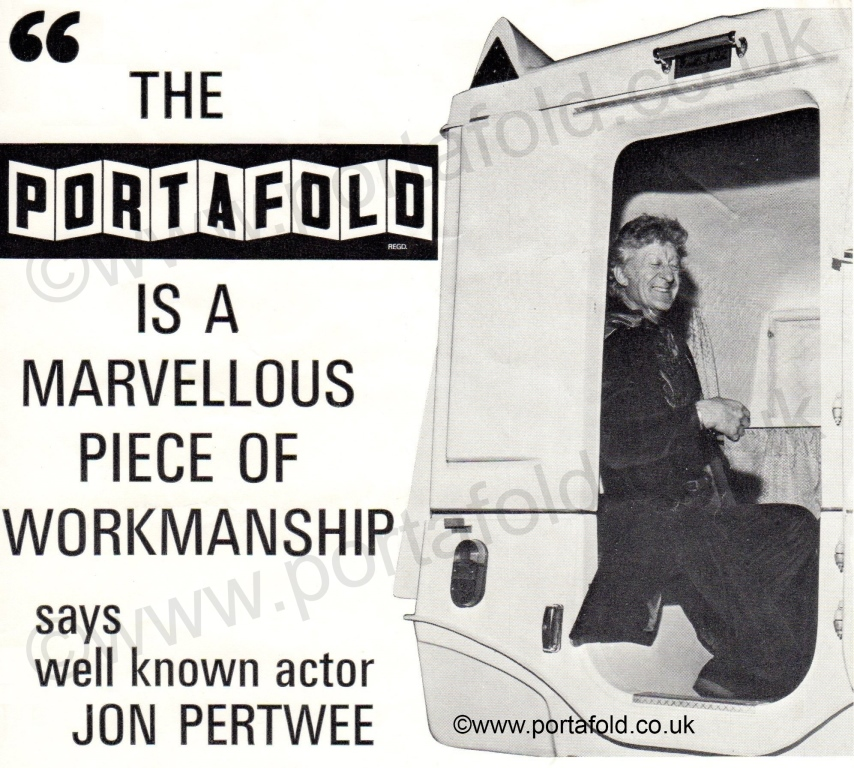 Jon Pertwee advertising the Portafold